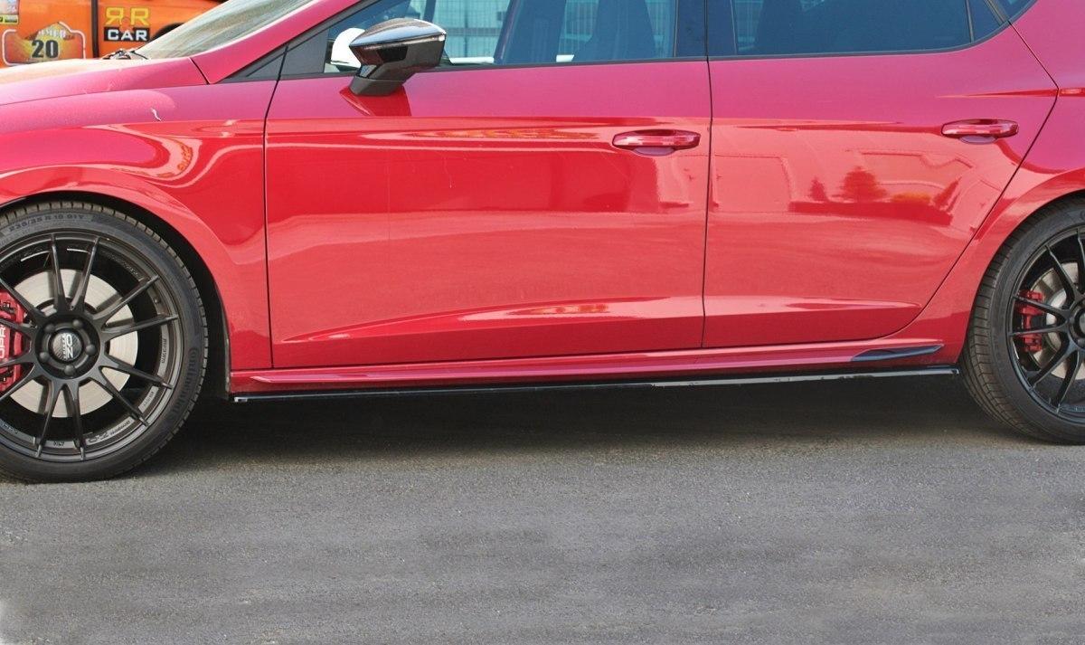 Dokładki Progów v.1 Seat Leon Mk3 Cupra Facelift - GRUBYGARAGE - Sklep Tuningowy